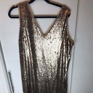 Plus Size Sequin Cocktail Dress